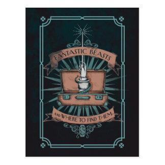 Postal Gráfico de la cartera del Newt fantástico de las