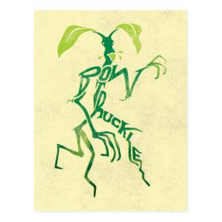 Postal Gráfico de la tipografía de Bowtruckle