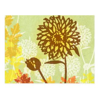 Postal Gráfico del crisantemo
