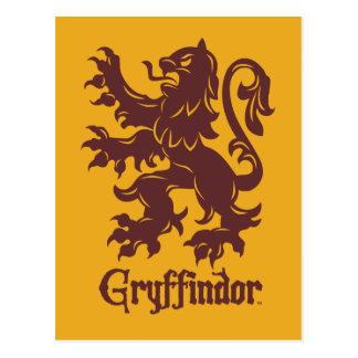 Postal Gráfico del león de Harry Potter el | Gryffindor