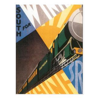 Postal Gráfico del poster del viaje del vintage del tren