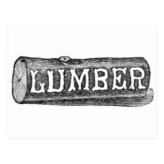 Postal Gráfico del registro de la madera de construcción