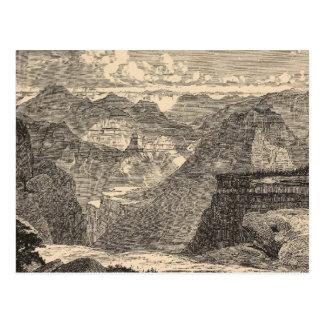 Postal Gran Cañón, Amphitheatre, motas esculpidas