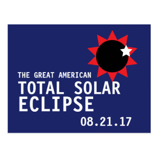 Postal Gran eclipse solar total americano