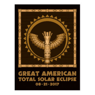 Postal Gran eclipse solar total americano - 2017