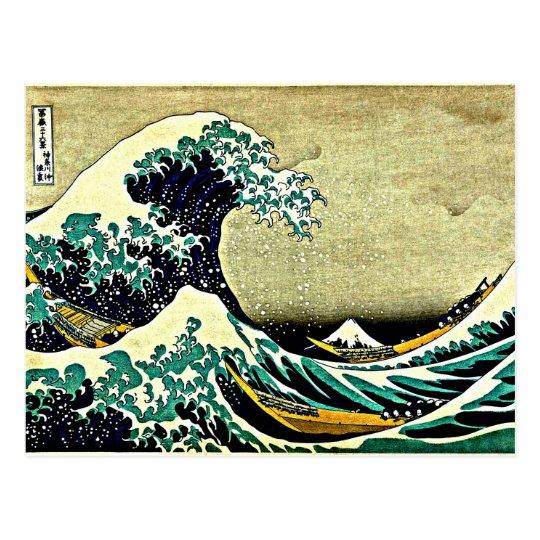 Postal Gran onda de Kanagawa