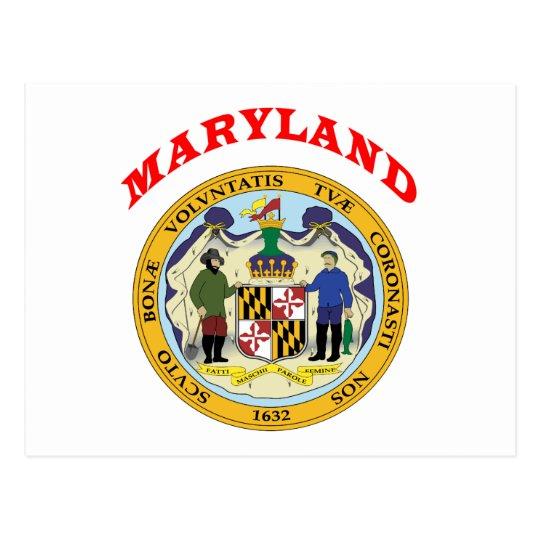 Postal Gran sello del estado Maryland