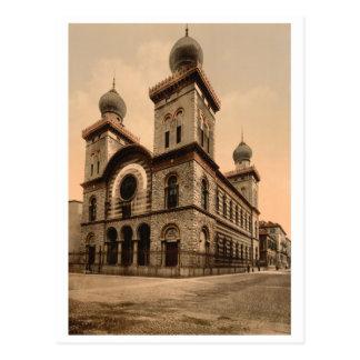 Postal Gran sinagoga de Turín, Piamonte, Italia