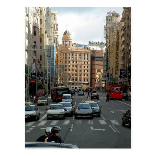 Postal Gran Vía de Madrid, España