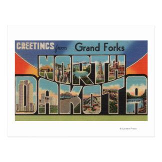 Postal Grand Forks, Dakota del Norte - letra grande