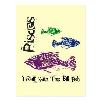 Postal grande de los pescados de Piscis