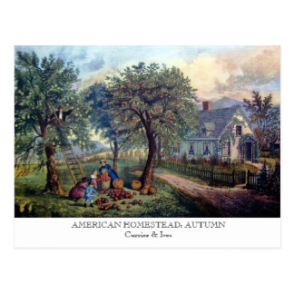 Postal - GRANJA AMERICANA: Otoño