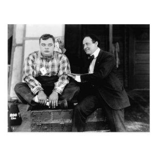 Postal grasa de Arbuckle y de Harry Houdini