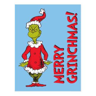 Postal Grinch clásico el | Papá Noel