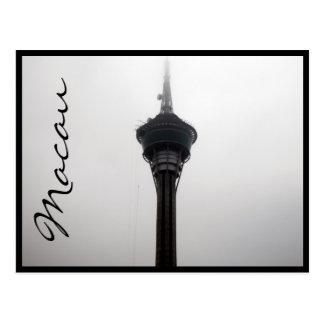 Postal gris superior de la torre de Macao