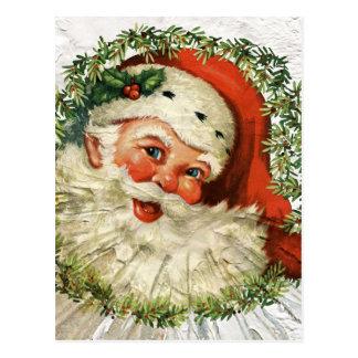 Postal Grunge de Santa del vintage