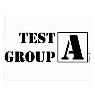 Postal Grupo de prueba A