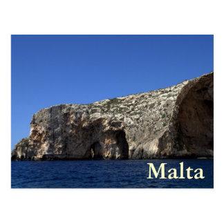 Postal Gruta azul, Malta