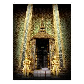 Postal Guardas de la foto de oro de Tailandia del palacio