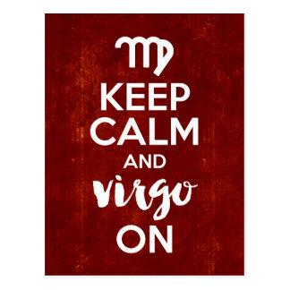 Postal Guarde al virgo tranquilo en la astrología del