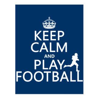 Postal Guarde el fútbol de la calma y del juego (el