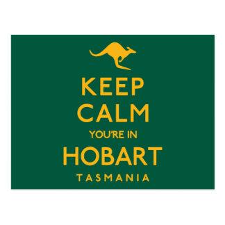Postal ¡Guarde la calma que usted está en Hobart!