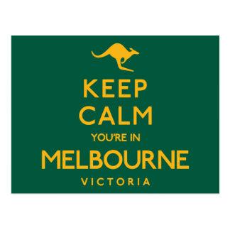 Postal ¡Guarde la calma que usted está en Melbourne!