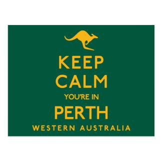 Postal ¡Guarde la calma que usted está en Perth!