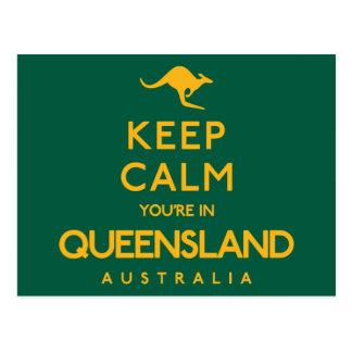 Postal ¡Guarde la calma que usted está en Queensland!