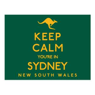 Postal ¡Guarde la calma que usted está en Sydney!