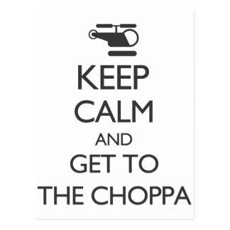 Postal Guarde la calma y consiga al Choppa