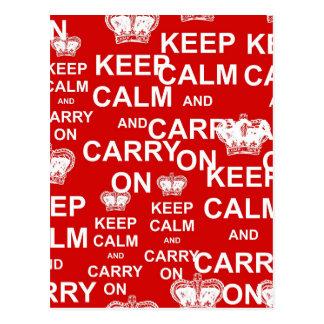 Postal Guarde la calma y continúe