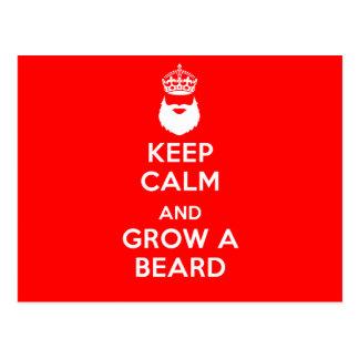 Postal Guarde la calma y crezca una barba