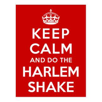 Postal Guarde la calma y haga la sacudida de Harlem
