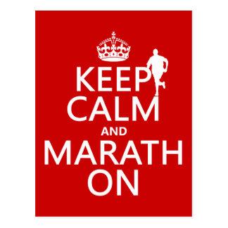 Postal Guarde la calma y Marath encendido
