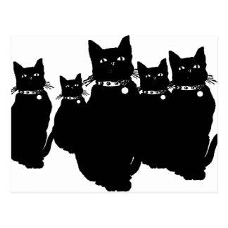 Postal Guárdese del gato negro
