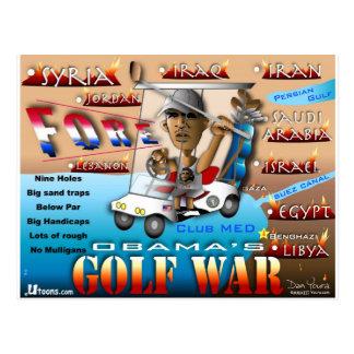 Postal Guerra del golf de Obams