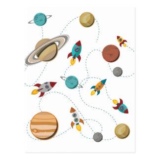 Postal Guerras de la luna del aterrizaje del espacio de