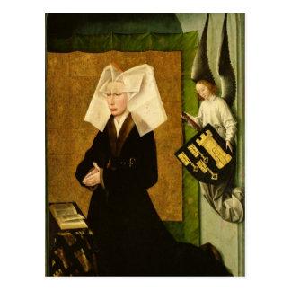 Postal Guigone de Salins, esposa del donante