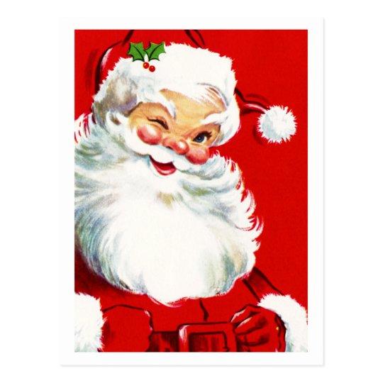 Postal Guiño de Santa