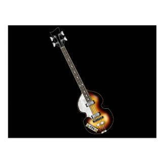 Postal Guitarra baja del violín