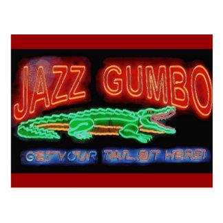 Postal Gumbo del jazz