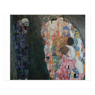 Postal Gustavo Klimt - Death y Life, 1910