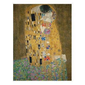Postal Gustavo Klimt - el beso