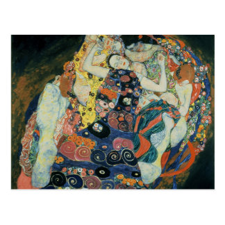 """Postal Gustavo Klimt: """"el virginal """""""