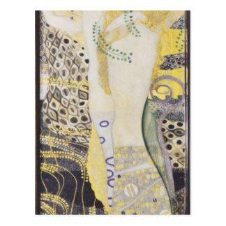 Postal Gustavo Klimt- Watersnakes