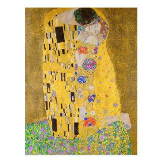 Postal Gustavo restaurado Klimt el arte Nouveau del beso