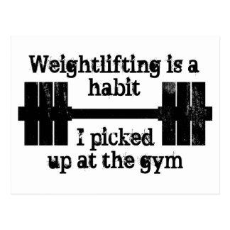 Postal Hábito del levantamiento de pesas