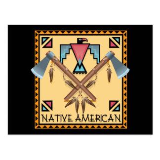Postal Hachas de guerra del nativo americano