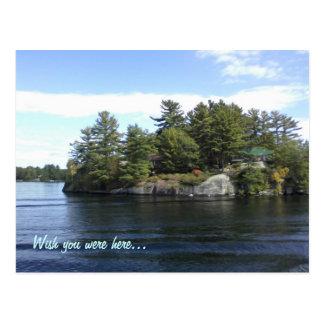 Postal hacia fuera en el lago